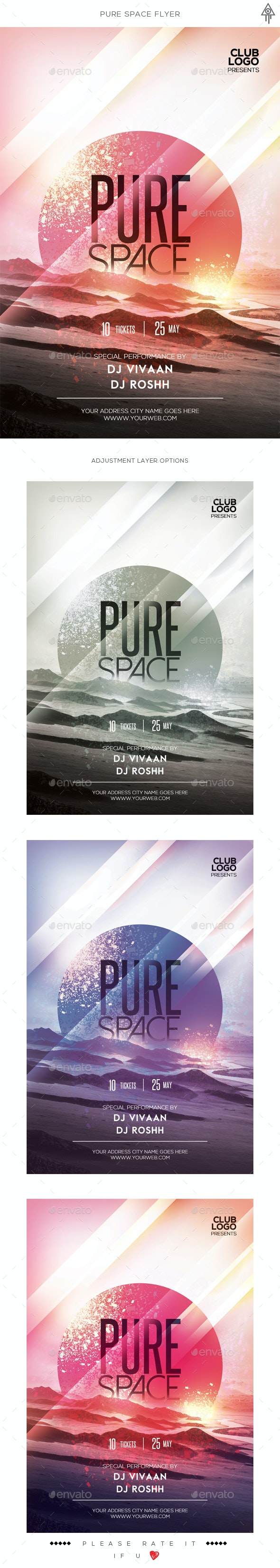Pure Space Flyer - Clubs & Parties Events