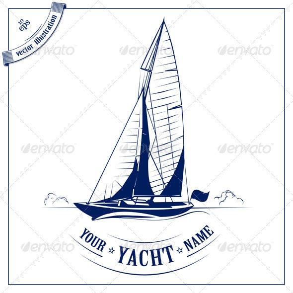 Speed Yacht Emblem - Travel Conceptual
