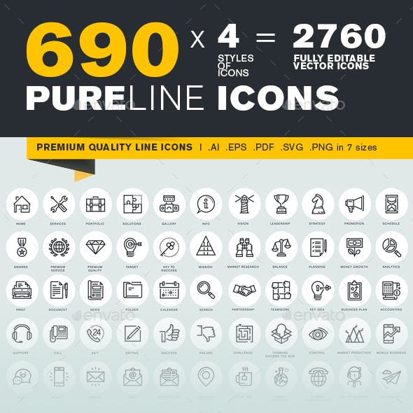 Pure Line Icons