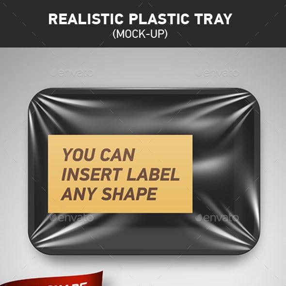 Realistic Plastic Tray