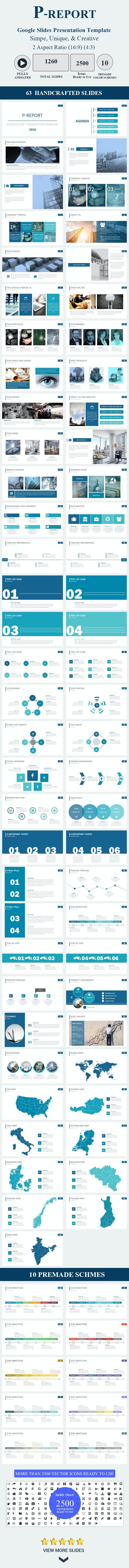 P–REPORT Google Slides Presentation Template - Google Slides Presentation Templates