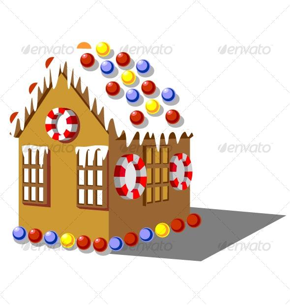 Gingerbread house color 01 - Christmas Seasons/Holidays