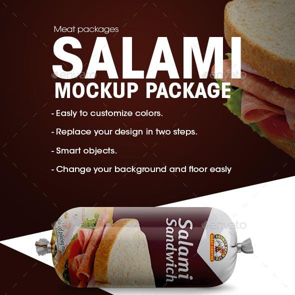 Salami Package Mockup