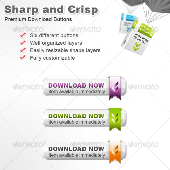 Sharp and Crisp Download Buttons