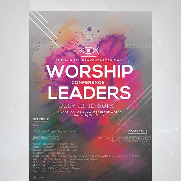 Worship Leaders Conference Flyer