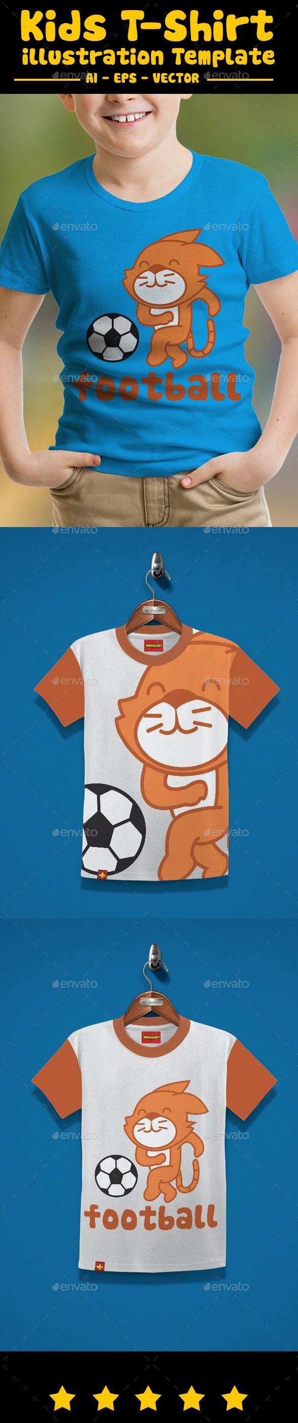 Football Kids T-Shirt Design - T-Shirts