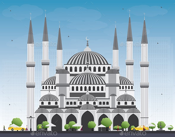 Blue Mosque in Istanbul Turkey - Buildings Objects