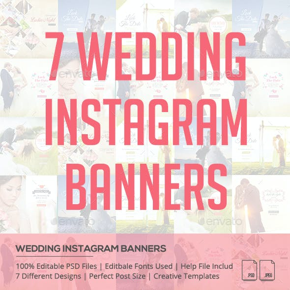 Wedding Instagram Banners