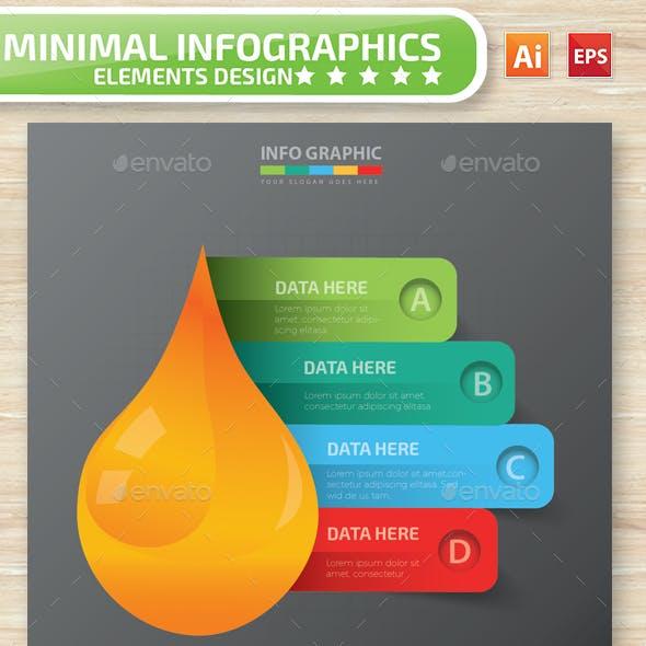 Minimal Oil infographic Design