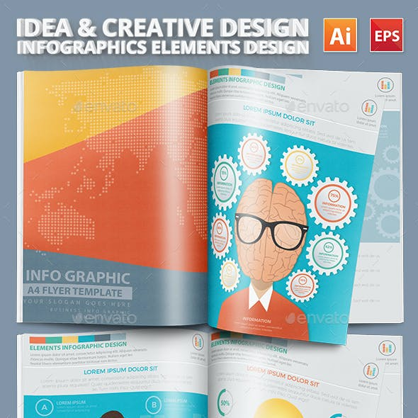 Idea and Creative Infographics Elements Design