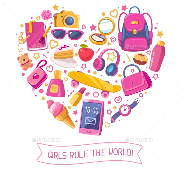 Heart Shape with Women Items