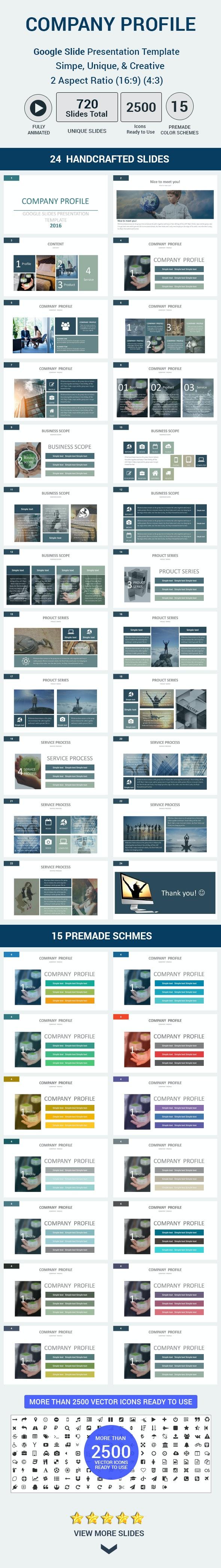 Company profile Google Slides Presentation Template - Google Slides Presentation Templates