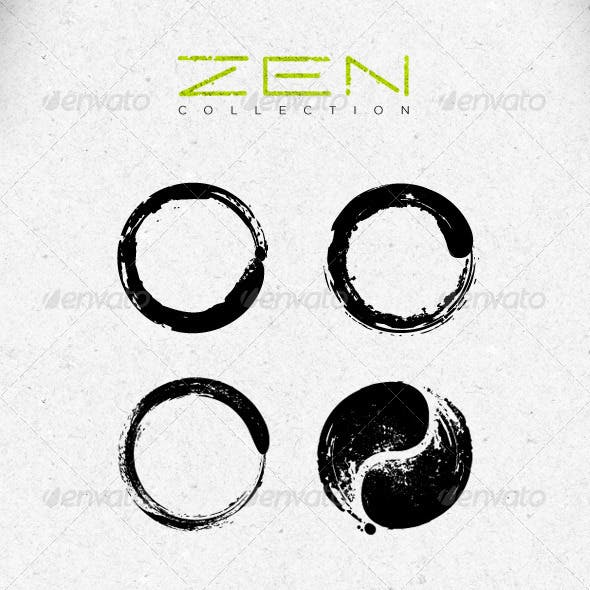 Zen Symbols Creative Vector Design Elements Set