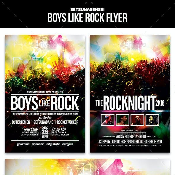 Boys Like Rock Flyer