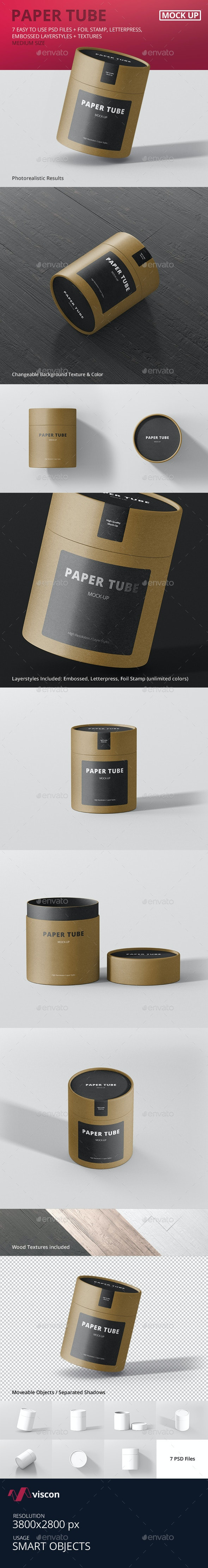 Paper Tube Packaging Mock-Up - Medium - Miscellaneous Packaging