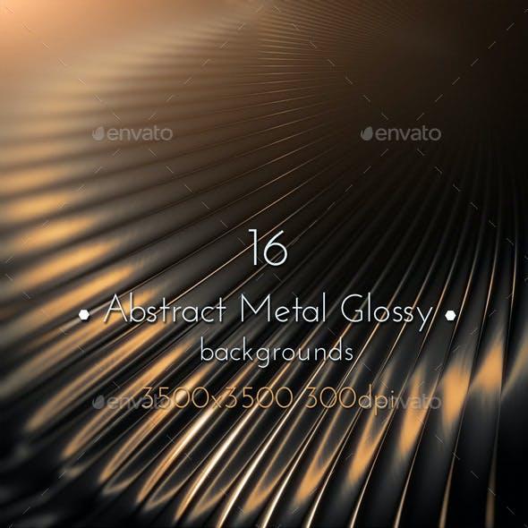 Abstract Dark Metal Glossy
