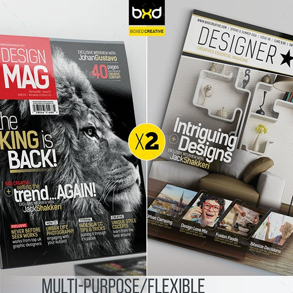 Magazine Template Bundle - InDesign Layout V4