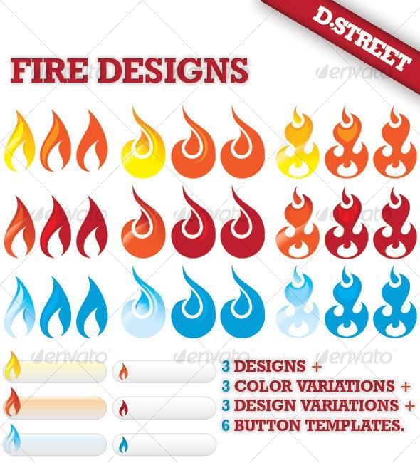 Fire - Decorative Symbols Decorative