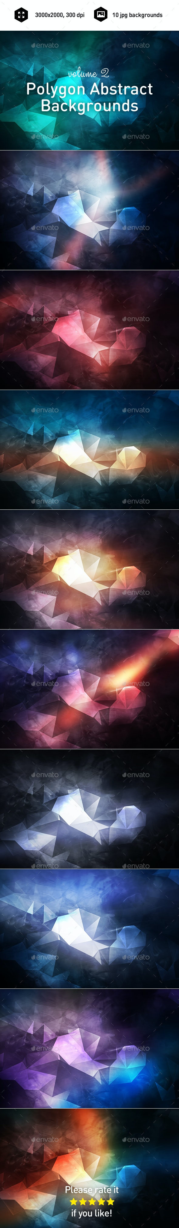 Polygon Abstract Backgrounds vol.2 - Abstract Backgrounds