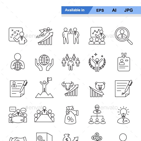 Business Outlines Vector Icons