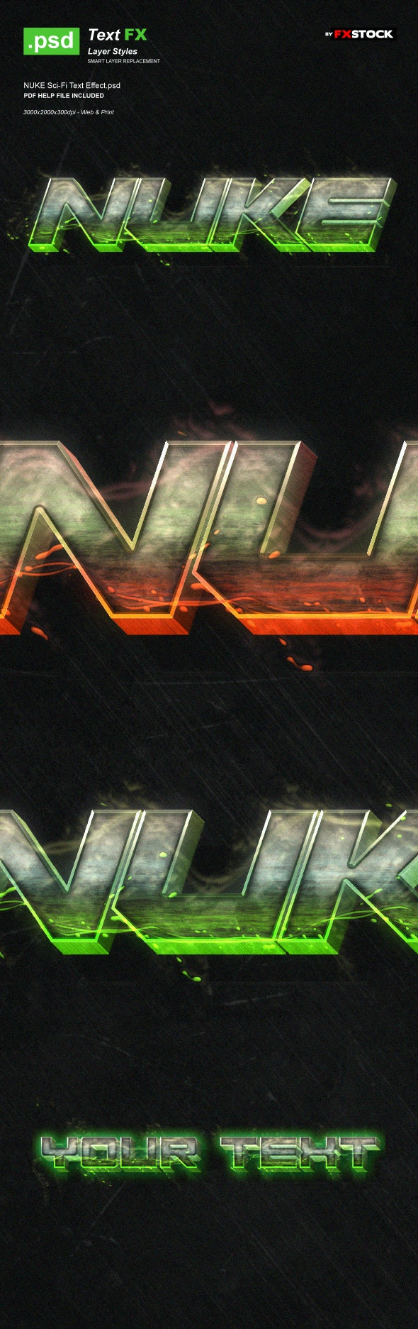 NUKE Sci-Fi Text Effect - Text Effects Actions