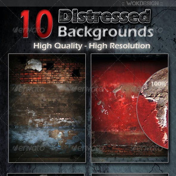 10 Distressed Backgrounds
