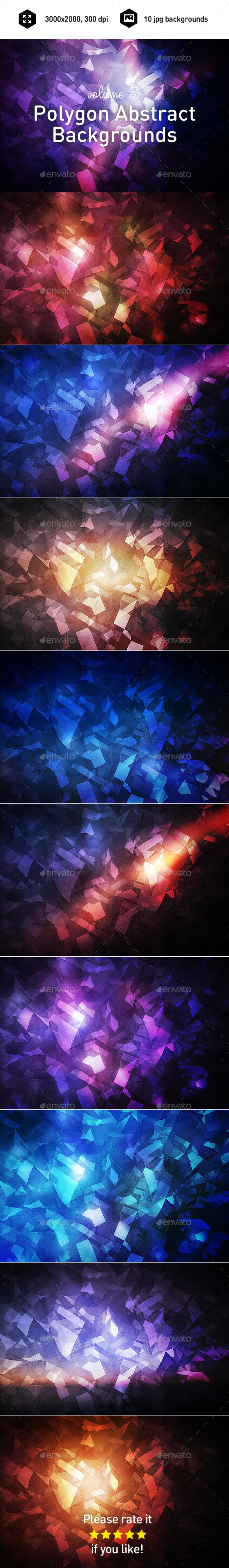 Polygon Abstract Backgrounds vol.3 - Abstract Backgrounds