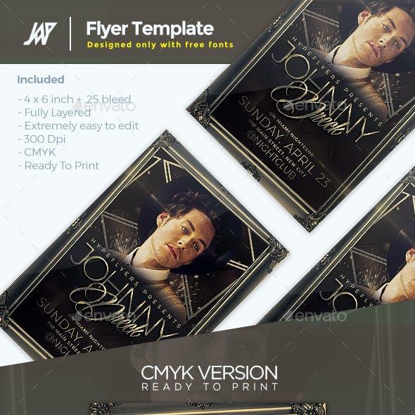 Artist Elegant Concert Flyer Template
