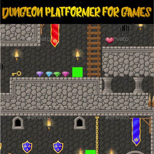 Dungeon Platformer Set for 2d Games