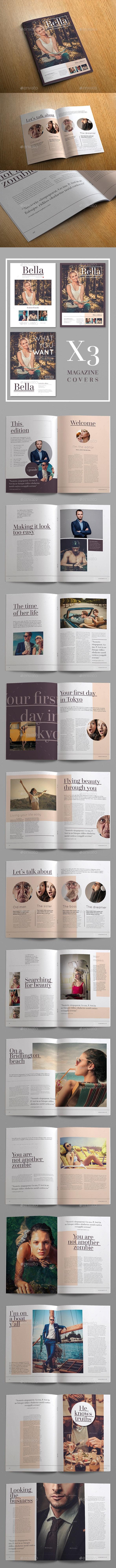 Bella Minimal Magazine Template - Magazines Print Templates