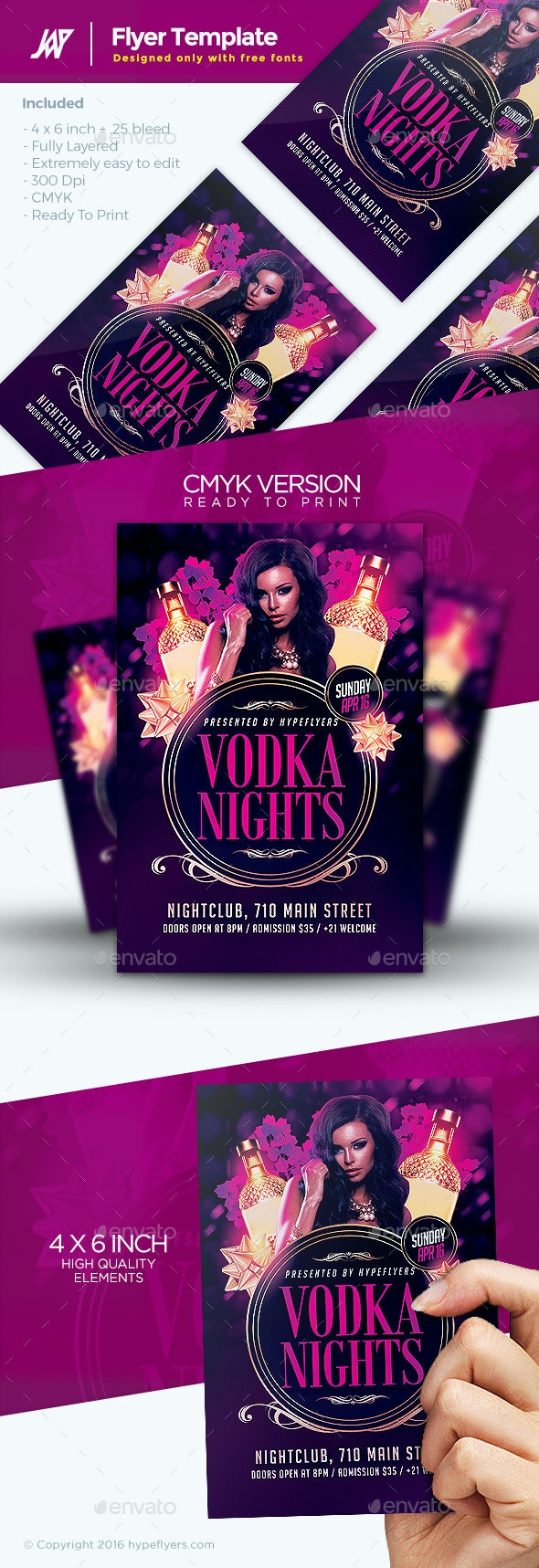 Classy Drinks Party Flyer Template - Clubs & Parties Events