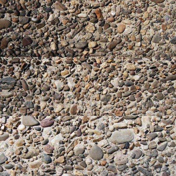Pebble in concrete