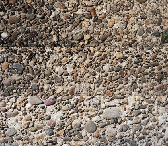 Pebble in concrete - Concrete Textures