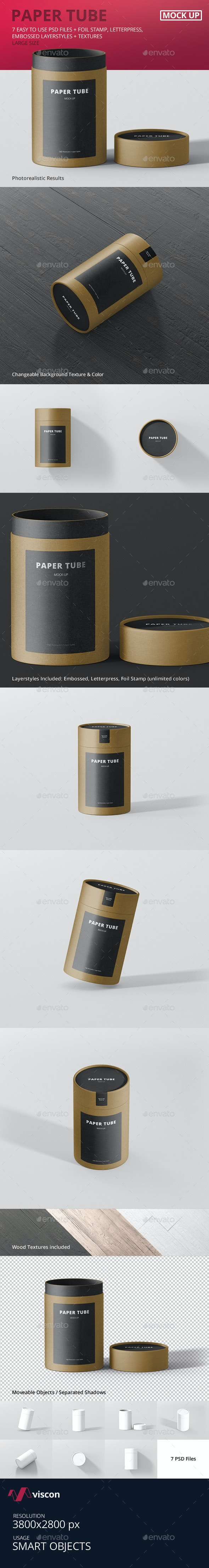 Paper Tube Packaging Mock-Up - Large - Miscellaneous Packaging