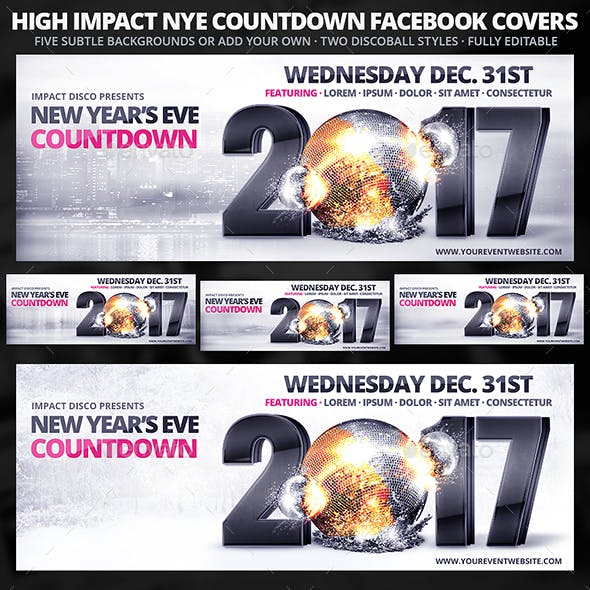 High Impact New Year's Eve Countdown FB Covers