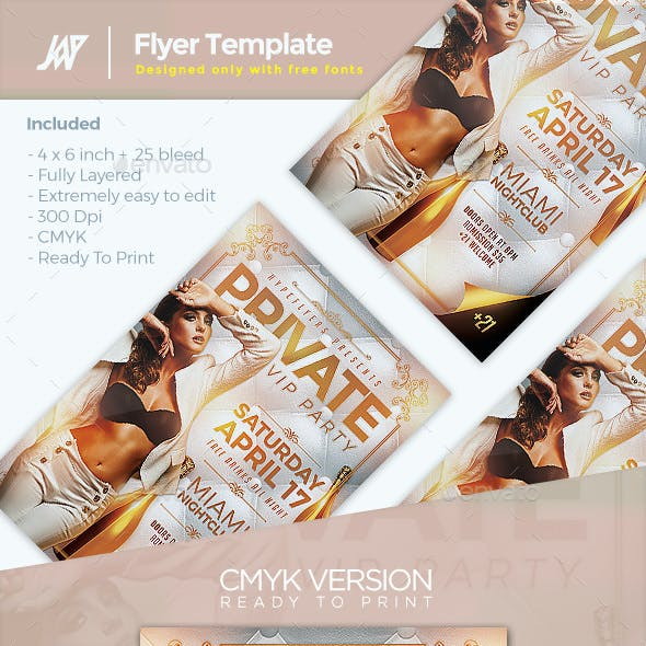 Elegant Private Party Flyer Template