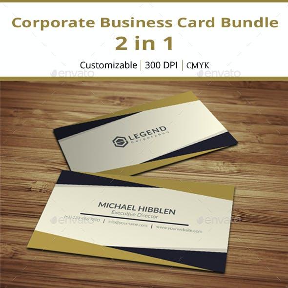 Corporate Business Card Bundle - 2 in 1