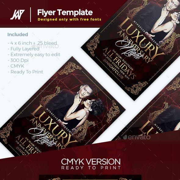 Luxury Anniversary Flyer Template