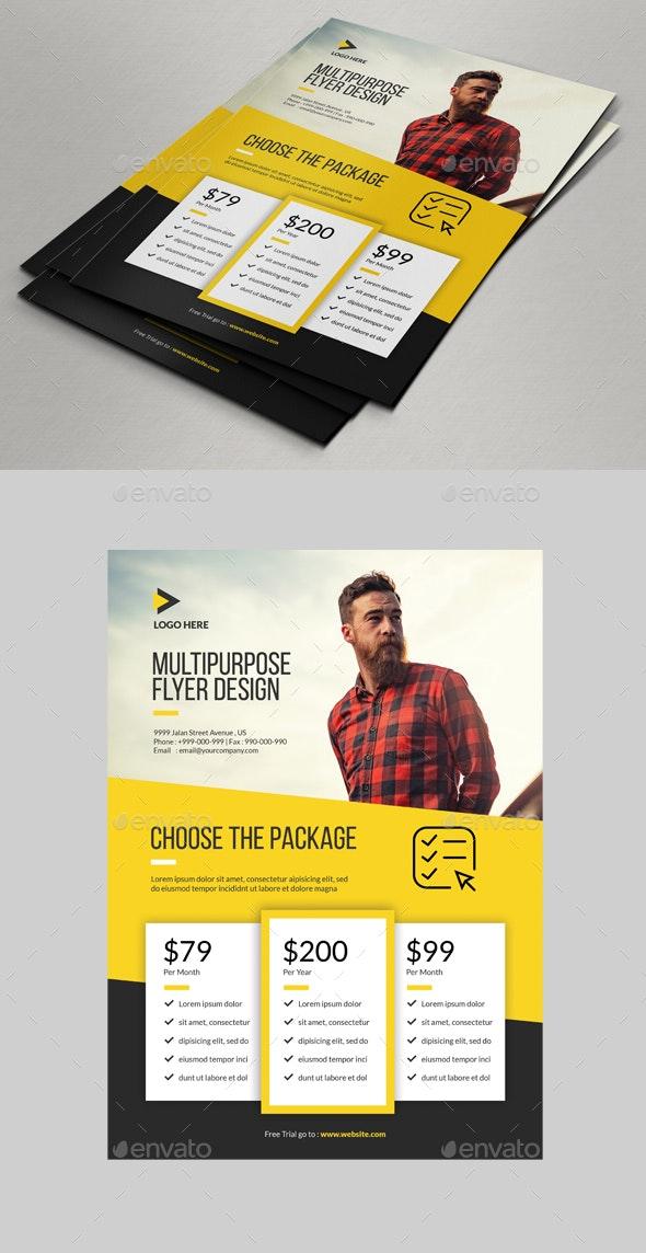 Multipurpose Flyer Price Designs - Corporate Flyers