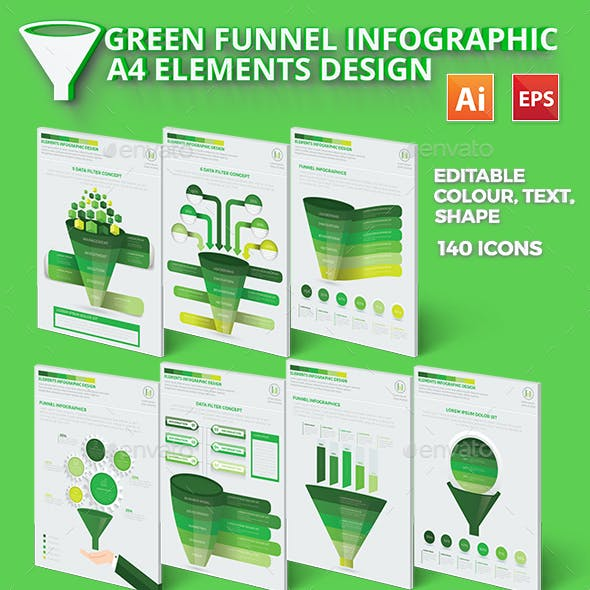 Green Filter Funnel Infographic Design