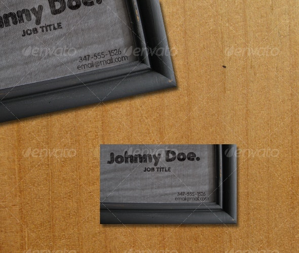 FRAMED DESIGN - Real Objects Business Cards