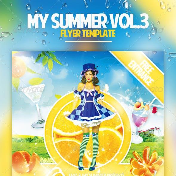 My Summer Vol.3 Flyer Template