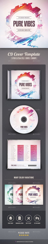 Pure Vibes CD Cover Artwork - CD & DVD Artwork Print Templates