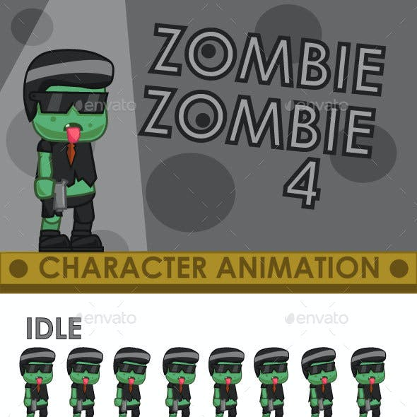 Zombie Enemy Sprite Sheet #4