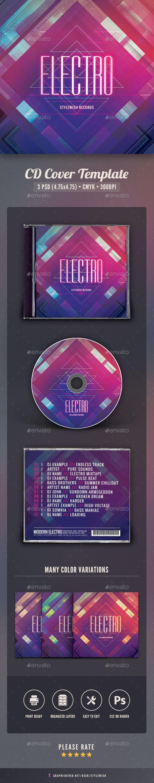Electro CD Cover Artwork - CD & DVD Artwork Print Templates