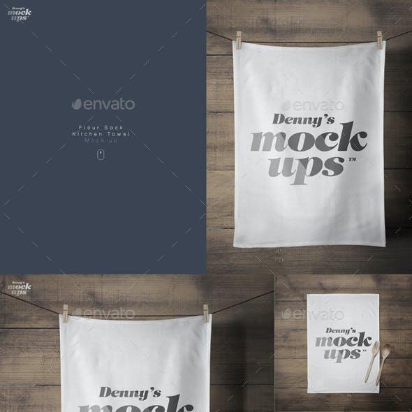 Flour Sack Towel Mockup