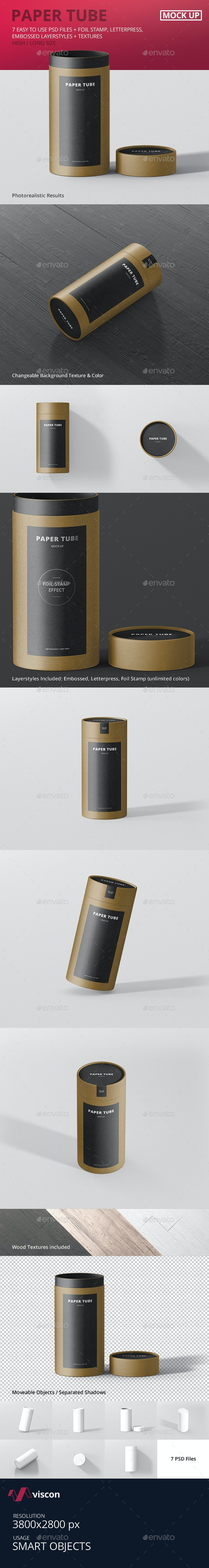 Paper Tube Packaging Mock-Up - Long / High - Miscellaneous Packaging