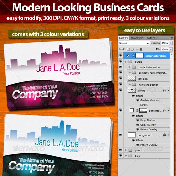 Modern Look Business Cards