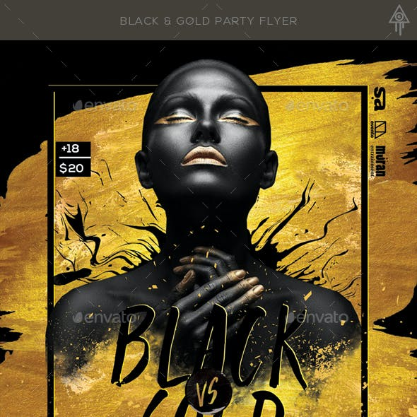 Black & Gold Party Flyer