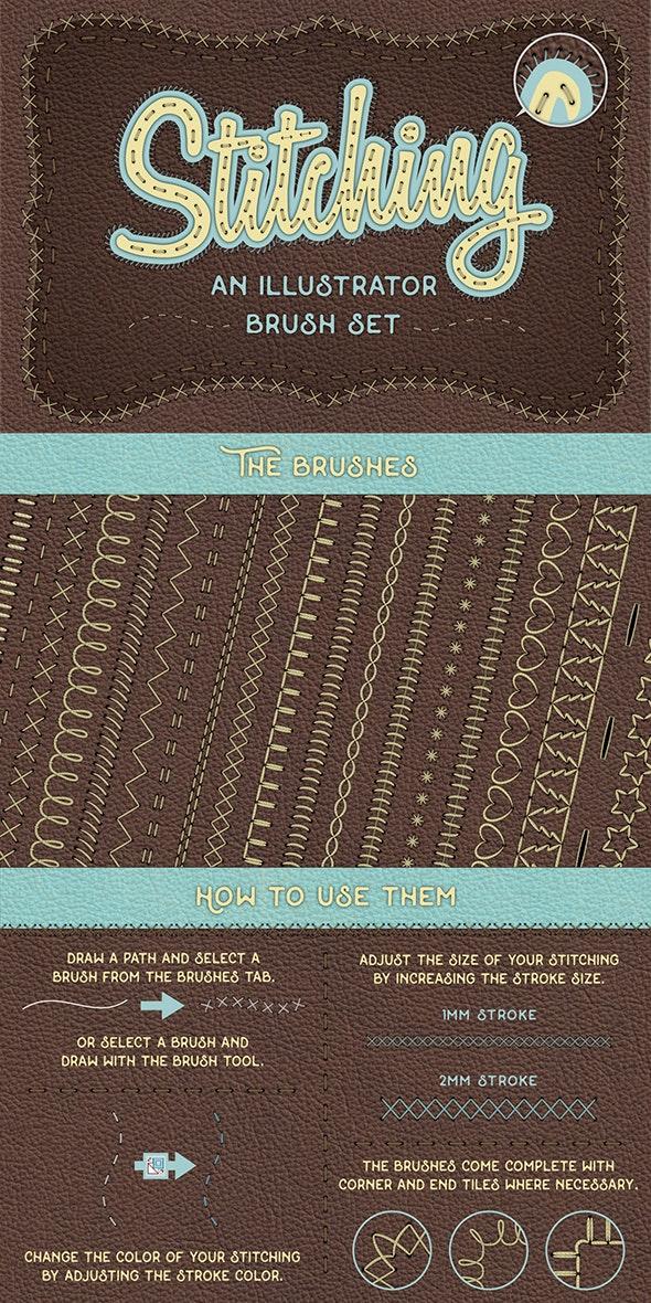 Illustrator Stitch Brushes - Brushes Illustrator